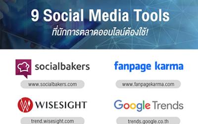 9 เครื่องมือที่ช่วยทำ Social Media